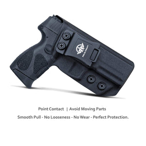 Taurus G3 Holster, IWB Kydex Holster For Taurus G3 9mm / 40 Pistol Case - G3 Taurus Holster 9mm - Inside Waistband Concealed Holster Taurus G3 9mm IWB Kydex Gun Accessories - Black