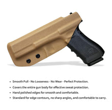 Load image into Gallery viewer, KYDEX IWB Holster Glock 17 Glock 22 Glock 31 Gun Holster IWB Inside Waistband Carry Concealed Holster Glock 17 Pistol Case Accessories - Tan