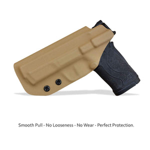 KYDEX IWB Holster M&P Shield 380 EZ For concealed Carry M&P 380 EZ Holster - S&W 380 EZ IWB Holster M&P Shield 380 EZ Concealed Holster 380 EZ Accessories - Tan