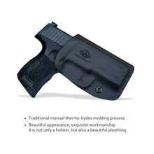 Load image into Gallery viewer, Kydex OWB Holster Fit: Sig Sauer P365 Holsters P365 SAS Gun Pistol Case - Sig Sauer P365 OWB Holster - Waistband Outside Carry - 1.5-2 Inch Belt Clip with Lock - Adj. Width Height Cant, Entrance Widen - Black