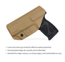 Load image into Gallery viewer, Taurus G2C Holsters, Kydex IWB Holster For Taurus G2C 9mm & Millennium PT111 G2 / PT140 9mm Pistol Case - Inside Waistband Concealed Carry Holster Taurus G2C 9mm - Widened Entrance, No Wear, No Jitter - Tan