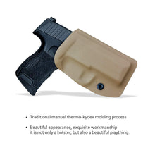 Load image into Gallery viewer, Kydex OWB Holster Fit: Sig Sauer P365 Holsters P365 SAS Gun Pistol Case - Sig Sauer P365 OWB Holster - Waistband Outside Carry - 1.5-2 Inch Belt Clip with Lock - Adj. Width Height Cant, Entrance Widen - Tan