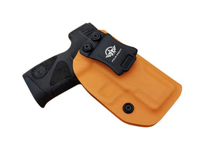 Taurus G2C Holsters IWB For Taurus G2C & Millennium PT111 G2 / PT140 Concealed Holster for Taurus G2C 9mm Gun - Adj. Cant Retention - Cover Mag-Button - No Wear - No Jitter - Orange, Right