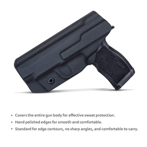 PoLe.Craft Sig P365XL Holster IWB Kydex for Sig Sauer P365XL Holsters Concealed Carry - Kydex IWB Holster for Sig P365XL Accessories ( Black, Right Hand Draw )