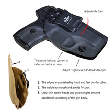 Load image into Gallery viewer, KYDEX IWB Holster LC9 Concealed Carry Holster Ruger LC9S Holster Concealed - Kydex Holster for Ruger LC9 Accessories - IWB Concealed Holster Pistol Case - Black