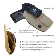 Load image into Gallery viewer, KYDEX IWB Holster LC9 Concealed Carry Holster Ruger LC9S Holster Concealed - Kydex Holster for Ruger LC9 Accessories - IWB Concealed Holster Pistol Case - Tan