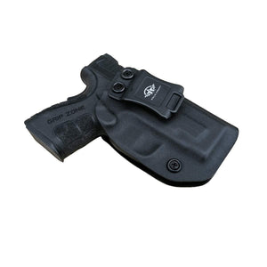 IWB Tactical KYDEX Gun Holster Custom Fits: SpringField XD-9 Single Stack Pistol Case Inside Waistband Carry Concealed Holster Guns Accessories Pouch Bag - Black