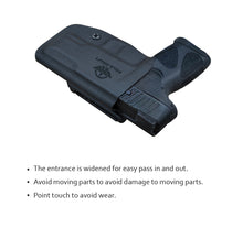 Load image into Gallery viewer, Taurus G2C Holsters, Kydex OWB Holster For Taurus G2C 9mm & Millennium PT111 G2 / PT140 Guns Pistol Case - Waistband Outside Carry, 1.5-2 Inch Belt Clip - Adj. Width Height Cant, Entrance Widen - Black