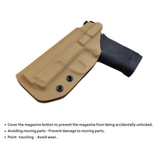 Load image into Gallery viewer, KYDEX IWB Holster M&P Shield 380 EZ For concealed Carry M&P 380 EZ Holster - S&W 380 EZ IWB Holster M&P Shield 380 EZ Concealed Holster 380 EZ Accessories - Tan