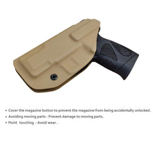 Load image into Gallery viewer, KYDEX IWB Taurus G2C Holster Taurus PT111 G2 Concealed Holster for Taurus G2C 9mm PT140 - KYDEX Holster Taurus PT111 G2C -Taurus G2C Holsters Concealed Carry Pistol Case Gun Accessories - Tan