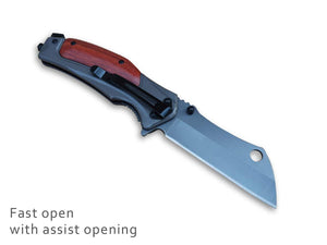 Pole.Craft Eagle F2 - Folding Knife For Camping - Spring Assisted Knife - Quick Opening Folding Pocket Knife - PoLe.Craft Holster & Knives