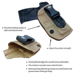 G2C IWB Holster Fit: Taurus G2C & Millennium PT111 G2 / PT140 Concealed Holster for Taurus G2C 9mm - Kydex Holster Taurus PT111 G2C Concealed Carry Pistol Case - Adj. Height & Cant - Entrance Widen - Tan