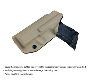 KYDEX IWB Holster P365 Sig Sauer 365 Holsters for Concealed Carry - Kydex Holster for Sig Sauer P365 IWB Holster Sig 365 Accessories - IWB Concealed Holster Pistol Case - Tan - PoLe.Craft Holster & Knives