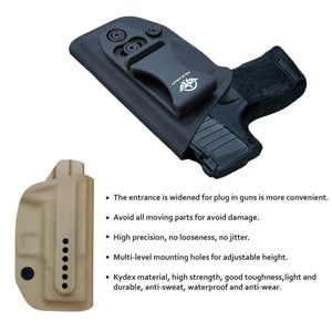 IWB Kydex Holster Fit: Sig Sauer P365 Concealed Carry - Kydex Holster for Sig Sauer P365 IWB Holster Sig 365 Accessories - IWB Concealed Holster P365 Pistol Case - Black