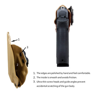 KYDEX IWB Holster Glock 17 Glock 22 Glock 31 Gun Holster IWB Inside Waistband Carry Concealed Holster Glock 17 Pistol Case Accessories - Tan - PoLe.Craft Holster & Knives
