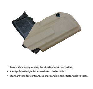 KYDEX IWB Holster Bodyguard 380 with Laser Waistband Carry Concealed Holster Bodyguard 380 Laser Pistol Holster Gun Case - Tan