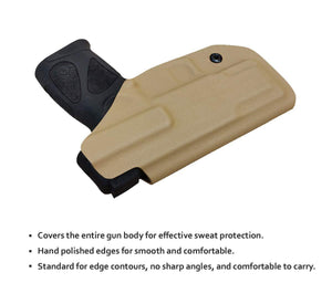 KYDEX IWB Taurus G2C Holster Taurus PT111 G2 Concealed Holster for Taurus G2C 9mm PT140 - KYDEX Holster Taurus PT111 G2C -Taurus G2C Holsters Concealed Carry Pistol Case Gun Accessories - Tan - PoLe.Craft Holster & Knives