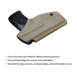 KYDEX IWB Holster LC9 Concealed Carry Holster Ruger LC9S Holster Concealed - Kydex Holster for Ruger LC9 Accessories - IWB Concealed Holster Pistol Case - Tan - PoLe.Craft Holster & Knives