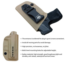 Load image into Gallery viewer, IWB Kydex Holster Fit: Sig Sauer P365 Concealed Carry - Kydex Holster for Sig Sauer P365 IWB Holster Sig 365 Accessories - IWB Concealed Holster P365 Pistol Case - Tan