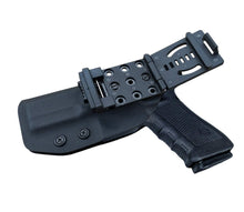 Load image into Gallery viewer, Kydex OWB Holster Fit: Glock 17 22 31 / Glock 19 19x / Glock 23 25 32 / Glock 26 27 30s (Gen 1-5) CZ P10 Pistol Case Waistband Outside Carry 1.5-2 Inch Belt Clip - Black