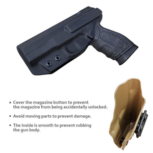 PoLe.Craft IWB Kydex Holster Custom Fit: Taurus 24/7-9mm / .40 Pistol - Inside Waistband Concealed Carry - Adj. Cant Retention - Cover Mag-Button - Widened Entrance - No Wear, No Jitter - PoLe.Craft Holster & Knives