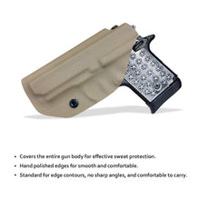 Load image into Gallery viewer, Kydex IWB Holster Fits: Sig Sauer P938 Pistol Case Inside Waistband Carry Concealed Holster P938 Gun Accessories - Tan
