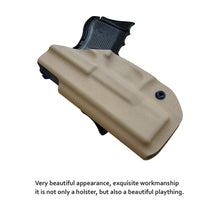 Load image into Gallery viewer, Kydex IWB Holster Custom Fits: Glock 26 / Glock 27 / Glock 33 Pistol Case Inside Waistband Carry Concealed Holster Guns Accessories - Point Touching - No Wear - No Jitter - Tan