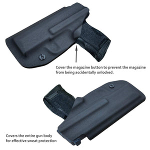 IWB Kydex Holster Fit: Sig Sauer P365 Concealed Carry - Kydex Holster for Sig Sauer P365 IWB Holster Sig 365 Accessories - IWB Concealed Holster P365 Pistol Case - Black - PoLe.Craft Holster & Knives