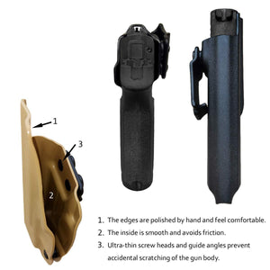 Kydex IWB Holster Custom Fit Sig Sauer P320 Carry / P320 Compact Medium Pistol Case - Inside Waistband Carry Concealed Holster P320 Gun Accessories - Point Touch - No Wear - No Jitter - Black - PoLe.Craft Holster & Knives
