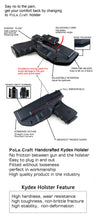 Load image into Gallery viewer, Kydex IWB Holster Custom Fits: Ruger LCP II - LCP 2 Pistol Case Pocket Inside Waistband Carry Concealed Holster IWB Pistol Pouch Gun Accessories - Point Touching - No Wear - No Jitter - Black