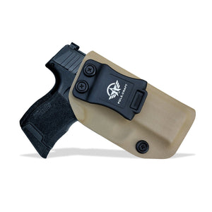 KYDEX IWB Holster P365 Sig Sauer 365 Holsters for Concealed Carry - Kydex Holster for Sig Sauer P365 IWB Holster Sig 365 Accessories - IWB Concealed Holster Pistol Case - Tan