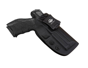HK VP9 Holster IWB Kydex For Heckler & Koch (H&K) VP9 VP40 Concealed Carry - Inside Waistband Carry Concealed Holster VP9 H&K VP40 Pistol Case Guns Accessories - Point Touching, No Wear, No Jitter - Black