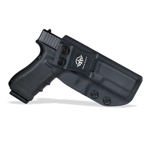 KYDEX IWB Holster Glock 17 Glock 22 Glock 31 Gun Holster IWB Inside Waistband Carry Concealed Holster Glock 17 Pistol Case Accessories - Black - PoLe.Craft Holster & Knives