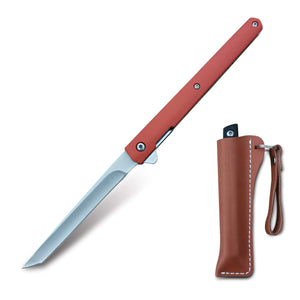 Pole.Craft Hawk D3 - Folding Knife - Pocket Knife - Spring Assisted Knife Quick Opening with Sheath - PoLe.Craft Holster & Knives