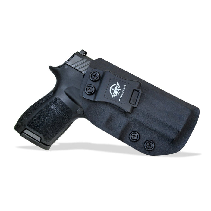 Kydex IWB Holster Custom Fit Sig Sauer P320 Carry / P320 Compact Medium Pistol Case - Inside Waistband Carry Concealed Holster P320 Gun Accessories - Point Touch - No Wear - No Jitter - Black