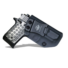 Load image into Gallery viewer, Kydex IWB Holster Fits: Sig Sauer P938 Pistol Case Inside Waistband Carry Concealed Holster P938 Gun Accessories - Black