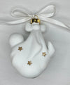Case of 24 -  Porcelain Baby's First Christmas Ornament BLANK Read to decorate