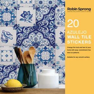 Robin Sprong vinyl wall tile stickers - Azulejo