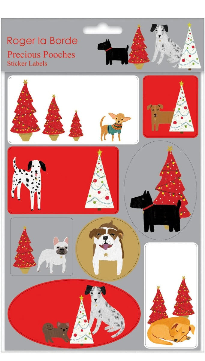 RLB Sticker Labels Sheet - dog Palais