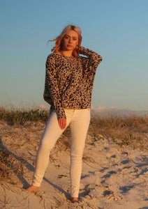Freda and Dick knitted sweater - leopard print