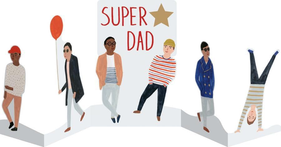 RLB Super dad concertina card
