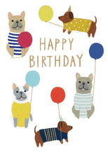 Load image into Gallery viewer, RLB Dogs with balloons petite card