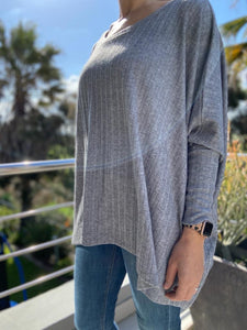 Freda and Dick pullover- grey knit