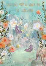 Load image into Gallery viewer, RLB Wishing you a walk in the sunshine - two butterflies card