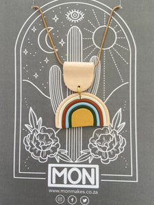 MON necklace - Rainbow