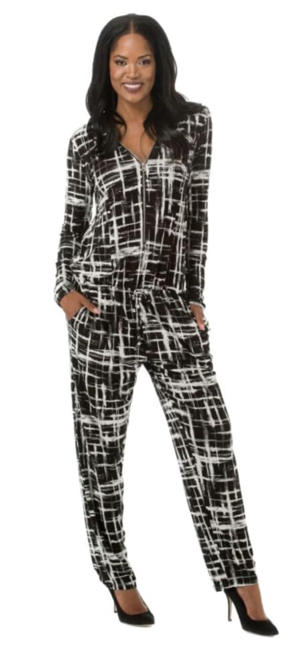 Mastik jumpsuit - black and white print