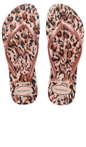Havaiana slim animal - ballet rose