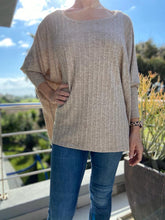 Load image into Gallery viewer, Freda and Dick pullover - taupe knit
