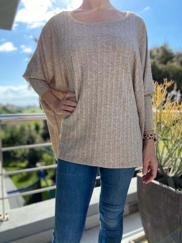 Freda and Dick pullover - taupe knit