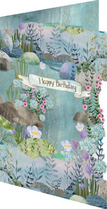 RLB Happy birthday - beautiful nature laser cut card